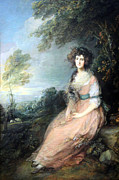 Mrs. Richard Prints - Gainsboroughs Mrs. Richard Brimsley Sheridan Print by Cora Wandel