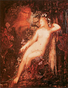 In A Forest Framed Prints - Galatea Framed Print by Gustave Moreau