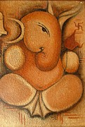 Ganapati Paintings - Ganapati by Vibha Singh