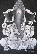 Usha Rai Framed Prints - Ganesha Framed Print by Usha Rai