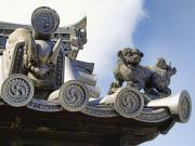 Japanese Dog Photos - GARGOYLES of HORYU-JI TEMPLE - NARA JAPAN by Daniel Hagerman