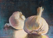 Donna Shortt Painting Metal Prints - Garlic Metal Print by Donna Shortt
