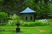 Gazebo Greeting Card Framed Prints - Gazebo In The Garden Framed Print by Kathleen Struckle