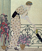 Hiding Metal Prints - Gazette du Bon Ton Metal Print by Georges Barbier