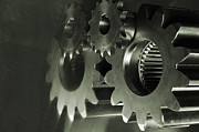 Gear Photos - Gears And Cogwheels by Christian Lagereek