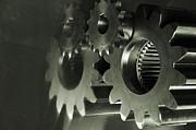 Gears And Cogwheels Print by Christian Lagereek