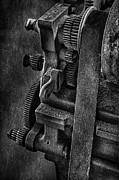 Machinery Posters - Gears And Pulley Poster by Susan Candelario