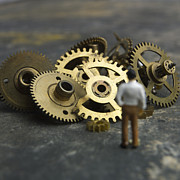Miniature Effect Photos - Gears by Bernard Jaubert