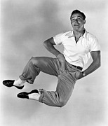 Kelly Framed Prints - Gene Kelly Framed Print by Sanely Great