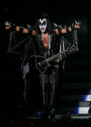 Bmi Framed Prints - Gene Simmons - KISS Framed Print by Don Olea