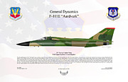 Usaf Framed Prints - General Dynamics F-111E Aardvark Framed Print by Arthur Eggers