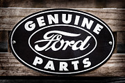 Parts Of Cars Posters - Genuine Ford Parts Sign Poster by Jill Reger