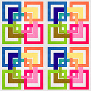 Geometric Shapes Posters - Geometric Colors  Poster by Mark Ashkenazi