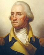 Male Posters - George Washington Poster by Rembrandt Peale