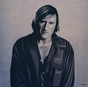 Russia Painting Metal Prints - Gerard Depardieu Metal Print by Paul  Meijering