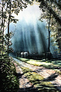 Sun Rays Paintings - Ghost Horse by Rita Cooper
