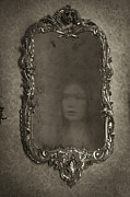 Ghost Story Prints - Ghost Of A Woman Reflected In A Mirror Print by Lee Avison