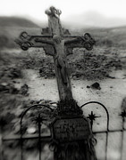 Graveyard Digital Art - Ghost Town Cross by Sonja Quintero