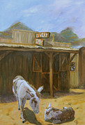 Greeting  Cards. Arizona Paintings - Ghost Town by Gail Daley