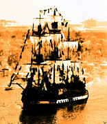 Pirate Ship Framed Prints - Ghosts of Gasparilla Framed Print by David Lee Thompson