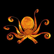 Octopus Sculpture Posters - Giant Octopus Poster by Diane Snider