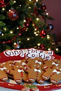 Treat Posters - Gingerbread Cookies on Platter Poster by Amy Cicconi