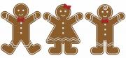 Clipart Posters - Gingerbread People Poster by Colette Scharf