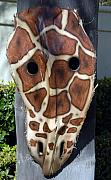 Animal Sculpture Originals - Giraffe Palm Frond by Craig Incardone