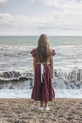Sand Stand Framed Prints - Girl On Beach Framed Print by Joana Kruse