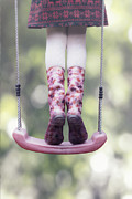 Swing Framed Prints - Girl Swinging Framed Print by Joana Kruse