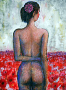 Best Sellers Originals - Girl with spider flower by Andrey Arsentyev