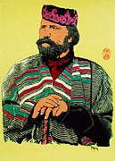 Human Rights Painting Prints - Giuseppe  Garibaldi Print by Roberto Prusso