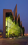 Night Scene Prints - Glasgow Riverside Museum Print by Grant Glendinning