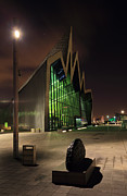 Night Scene Prints - Glasgow Transport Museum Print by Grant Glendinning