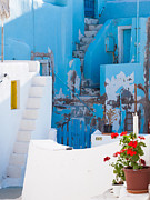 Greece Photos - Glimpse of typical white houses in Oia Santorini Greece by Matteo Colombo