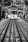 Tram Framed Prints - Gloria Funicular Framed Print by Jose Elias - Sofia Pereira