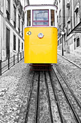Selective Color Framed Prints - Gloria Funicular Framed Print by Lusoimages