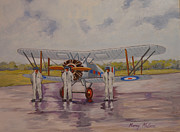 Raf Painting Framed Prints - Gloster Gamecock Framed Print by Murray McLeod