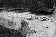 Gmc Photos - GMC 4000 V6 Pickup Truck Side Emblem by Jill Reger