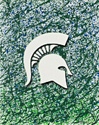 Go Spartans Print by Lance Graves