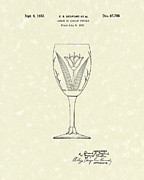 Glass Art Drawings Posters - Goblet 1932 Patent Art Poster by Prior Art Design