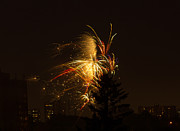 Fire Crackers Prints - Golden fireworks. Print by Tibor Co