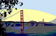 Golden Gate Mixed Media - Golden Gate Bridge by Charles Shoup