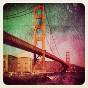 Instagram Posters - Golden Gate Bridge Poster by Jill Battaglia