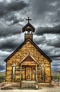 Gold Mining Photos - Goldfield Ghost Town - Church on the Mount by Saija  Lehtonen