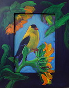 Ruth Sievers - Goldfinch on Sunflower