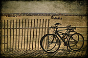 Beach Fence Photo Posters - Gone Swimming Poster by Evelina Kremsdorf