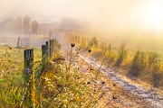 Fences Prints - Good Morning Farm Print by Debra and Dave Vanderlaan