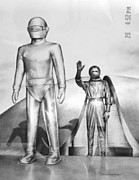 Stood Framed Prints - Gort and Klaatu Framed Print by Patrick Griffin