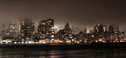Skylines Metal Prints - Gotham Metal Print by JC Findley